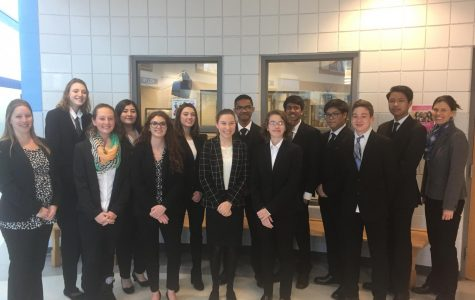 Mock Trial argued its first two court cases in Salisbury, Feb. 1, 2018. Unfortunately, the court did not rule in its favor as the team picked up its first two losses.
