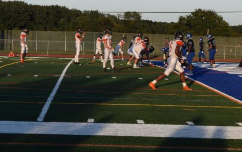 Decatur's Varsity Football team takes on Easton on the new turf field.