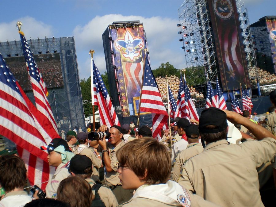 Boy scouts at the annual BSA National Jamboree event.