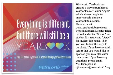 Walsworth Yearbook is  accepting donations to purchase yearbooks for seniors.