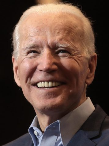 President-elect Joe Biden smiling over his victory in the 2020 election.