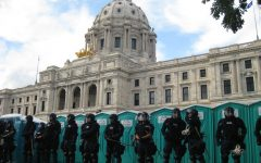 Riot Police gathered outside the Capitol building hours prior to the riots and eventual break-in.