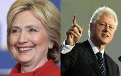 Hillary, former presidential candidate (pictured left), and Bill Clinton, former President of the United States (pictured right), have been involved in numerous conspiracy theories.