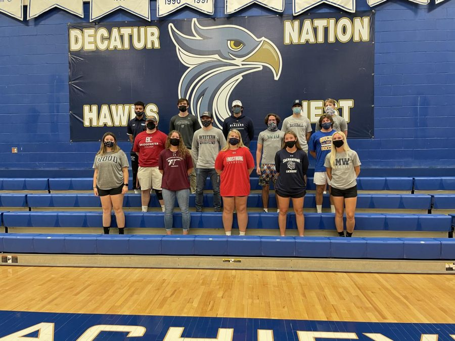 All+the+athletes+together+after+signing.+