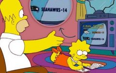 Pictured, is one of The Simpsons many predictions. This one involving the accurate guess of the 2005 Super Bowl win by the Denver Broncos.