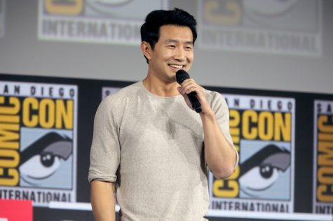 """Simu Liu at Comic-Con in 2019 after being announced as being cast in the lead role in """"Shang-Chi and the Legend of the Ten RIngs."""
