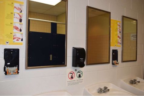 Soap dispensers in Decatur bathrooms are being vandalized, which is one reason for monitoring and closing bathrooms.
